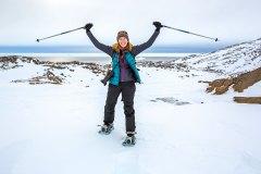 Auf Schneeschuhen unterwegs in Grönland. Foto: Dr. Till Pasquay