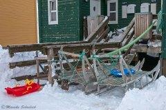 Schlitten sind im winterlichen  Grönland allgegenwärtig