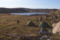 Unser Camp auf dem Weg zum Inlandeis