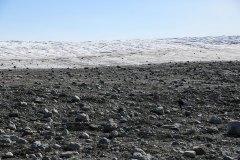 Moräne vor dem Inlandeis in Grönland
