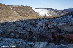 Reste der alten Seilbahn aufs Inlandeis