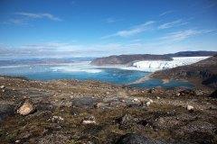 Blick auf den Eqi-Gletscher. Foto: Dr. Till Pasquay