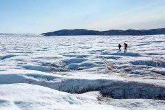 Auf dem Inlandeis in Westgrönland. Foto: Dr. Till Pasquay