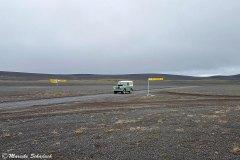 Verkehrsknotenpunkt in Islands Hochland