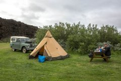 Campingplatz Asbyrgi. Foto: Dr. Till Pasquay