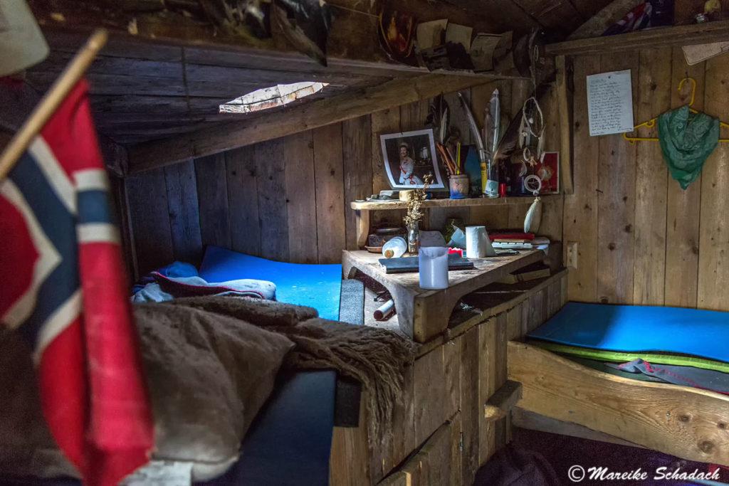 """""""Schlafzimmer"""" in der Hütte"""
