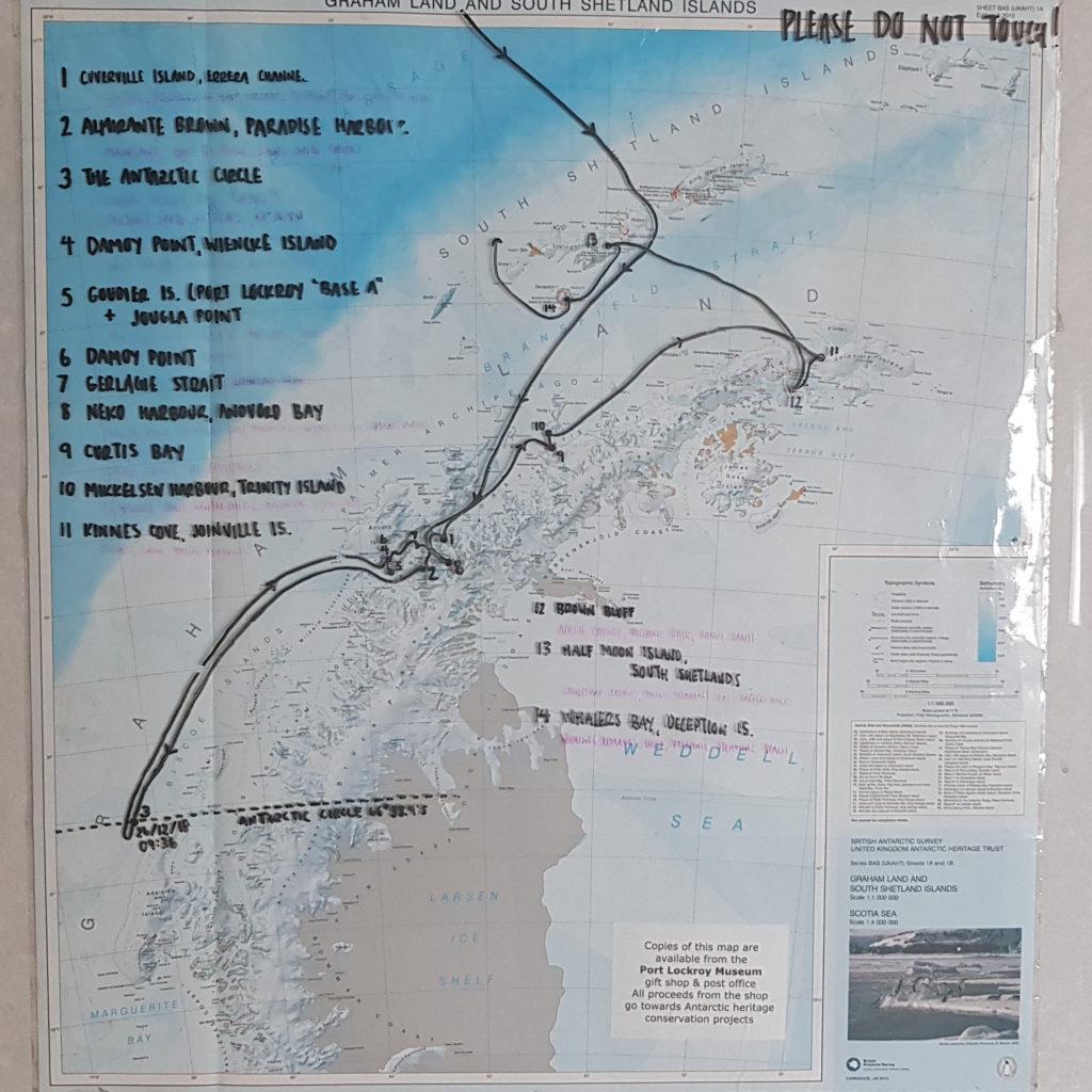 Expedition zum Südpolarkreis - unsere Reiseroute