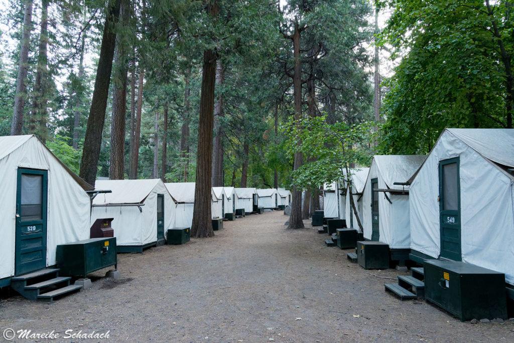 Zelte im Camp Curry - ein perfekter Ausgangspunkt für die Besteigung des Half Dome