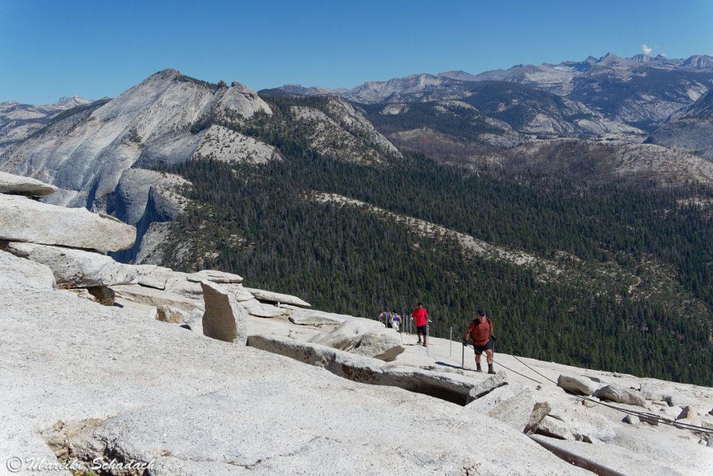 Der Gipfel - am Ziel der Besteigung des Half Dome
