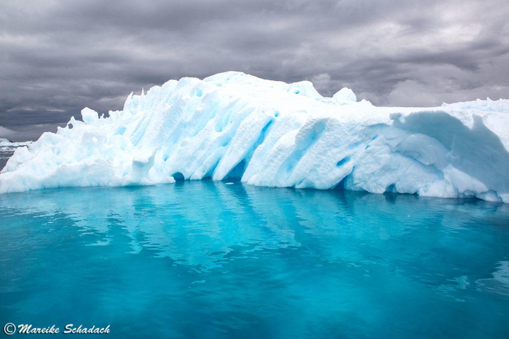 Blau schimmernder Eisberg