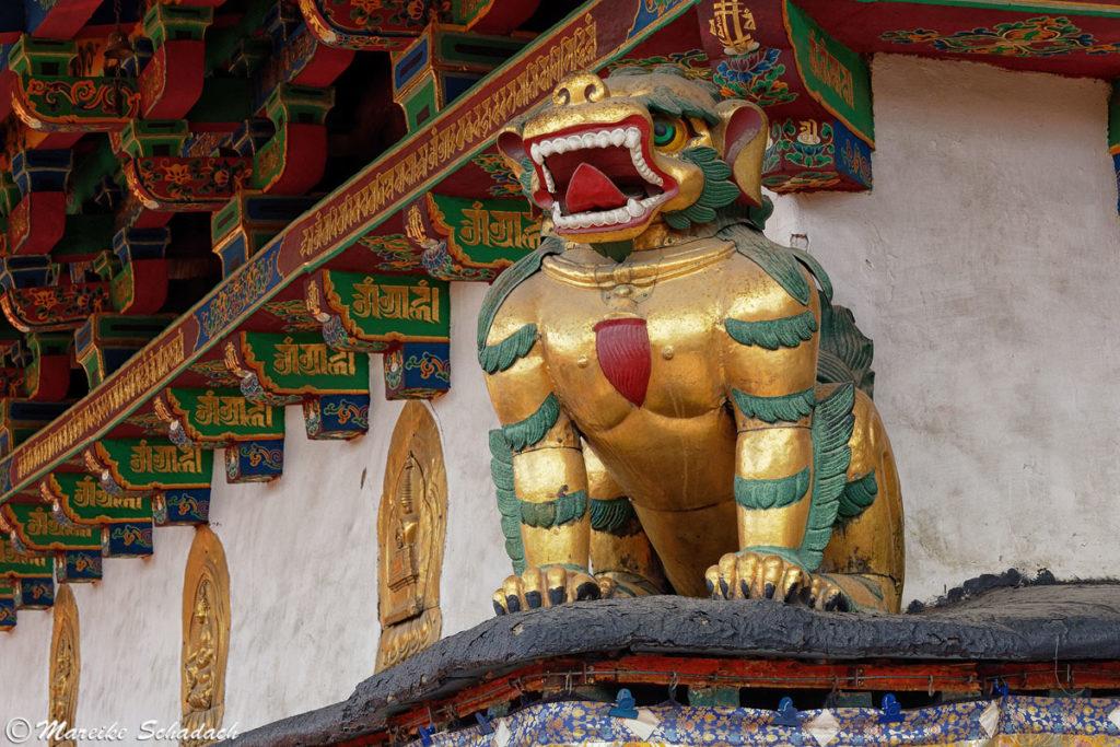 Löwe am Jokhang Tempel
