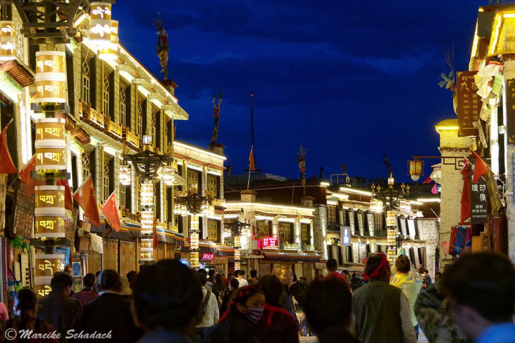 Barkhor in Lhasa am Abend