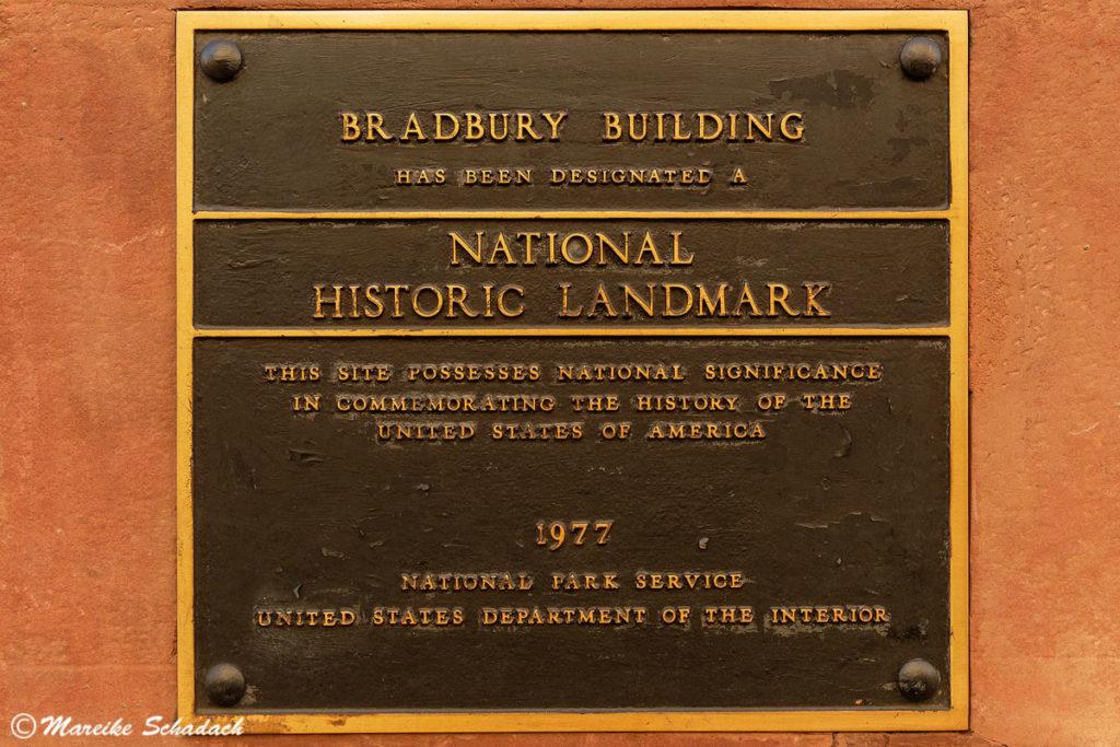 Bradbury Building als National Historic Landmarc