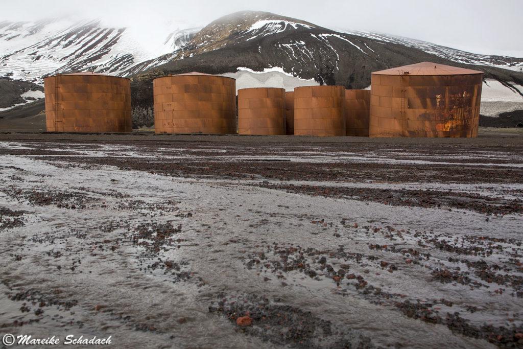 ehemalige Tanks für Walöl, Deception Island