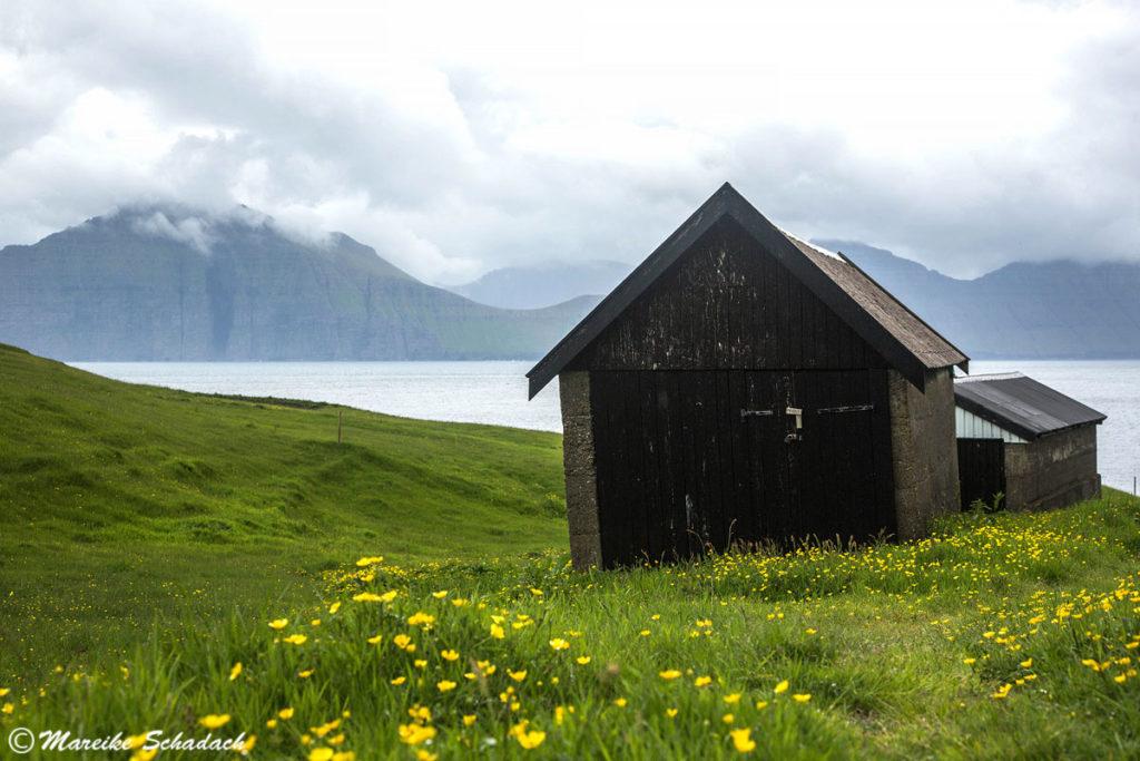 Holzhütte Färöer Inseln