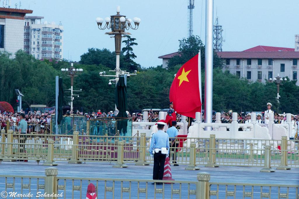 Flaggenzeremonie Tiananmen Square