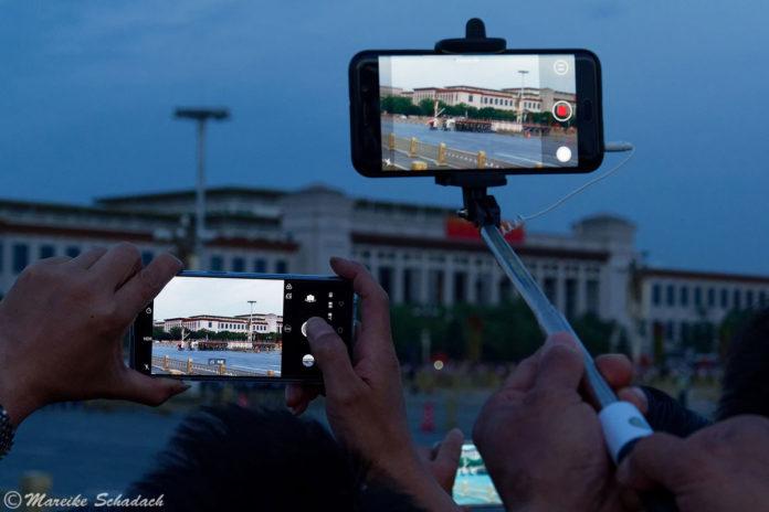 Fahnenzeremonie am Tiananmen-Platz