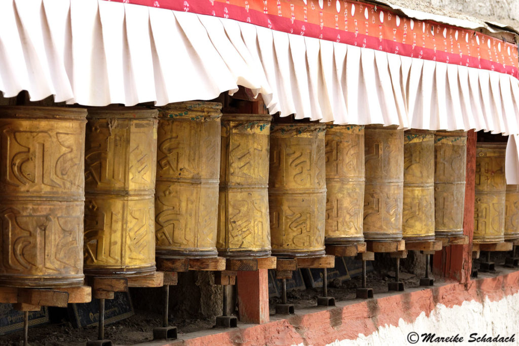 Gebetstrommeln Kloster Tholing