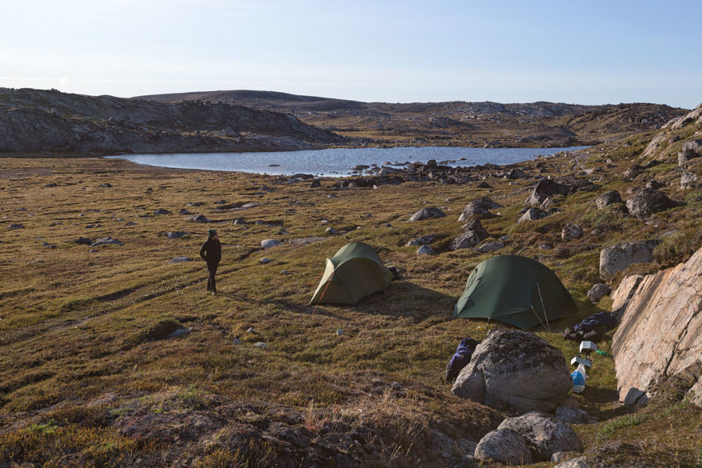 Camp während unserer Hiking Tour vom Eqi-Gletscher zum Inlandeis