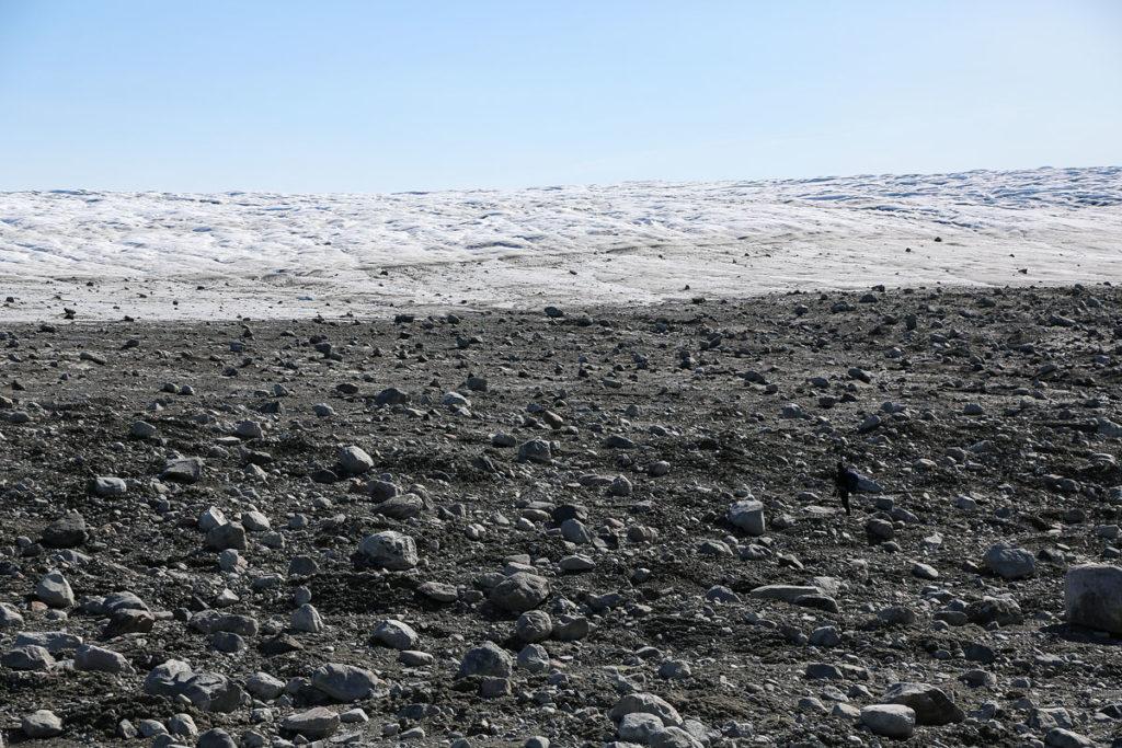 Hiking Tour vom Eqi-Gletscher zum Inlandeis, hier die Gletschermoräne