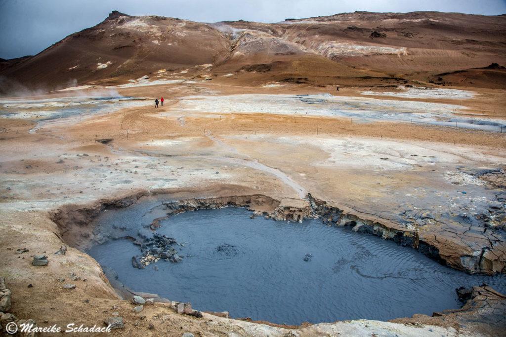heiße Quellen Hverarönd sind ein Highlight vom Diamond-Circle in Island