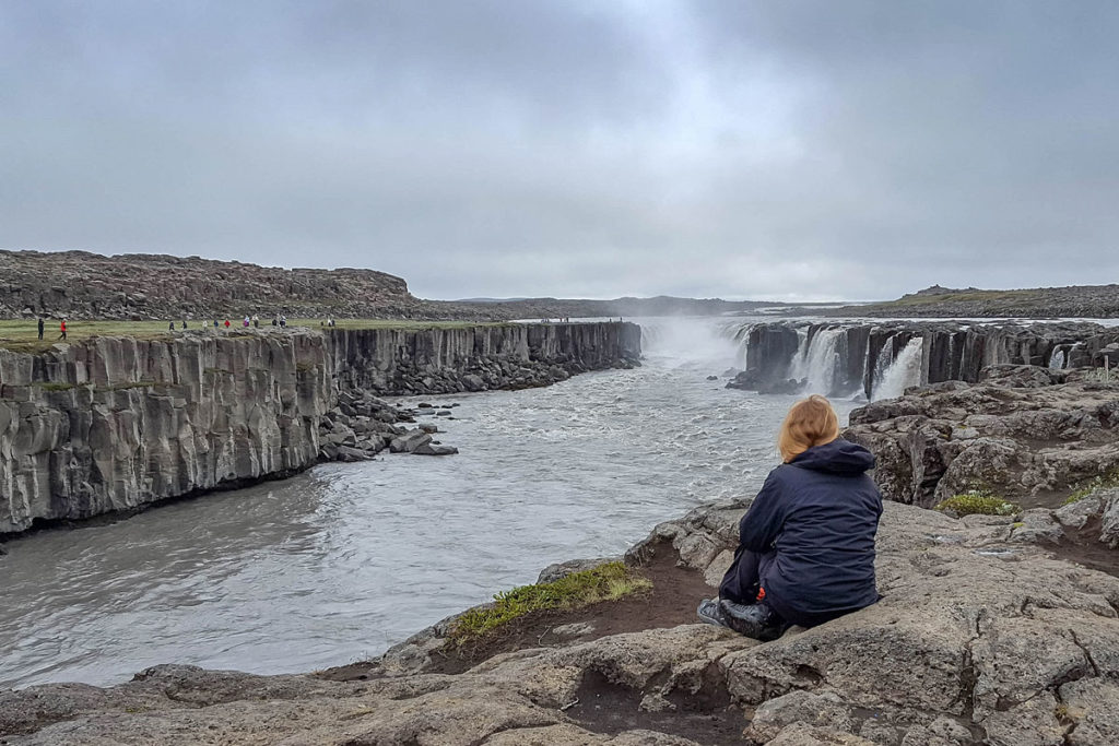 Wasserfall Selfoss ist ein Highlight vom Diamond-Circle in Island