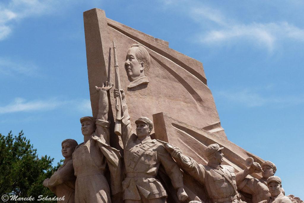 Relief vor dem Mao-Mausoleum
