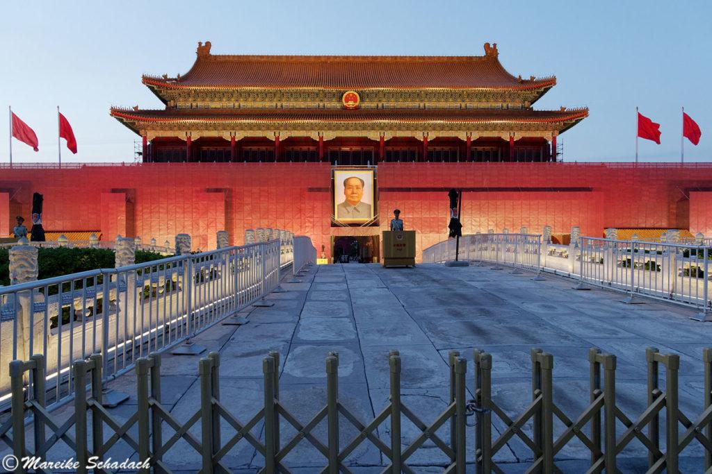 Mao-Porträt am Tiananmen-Platz