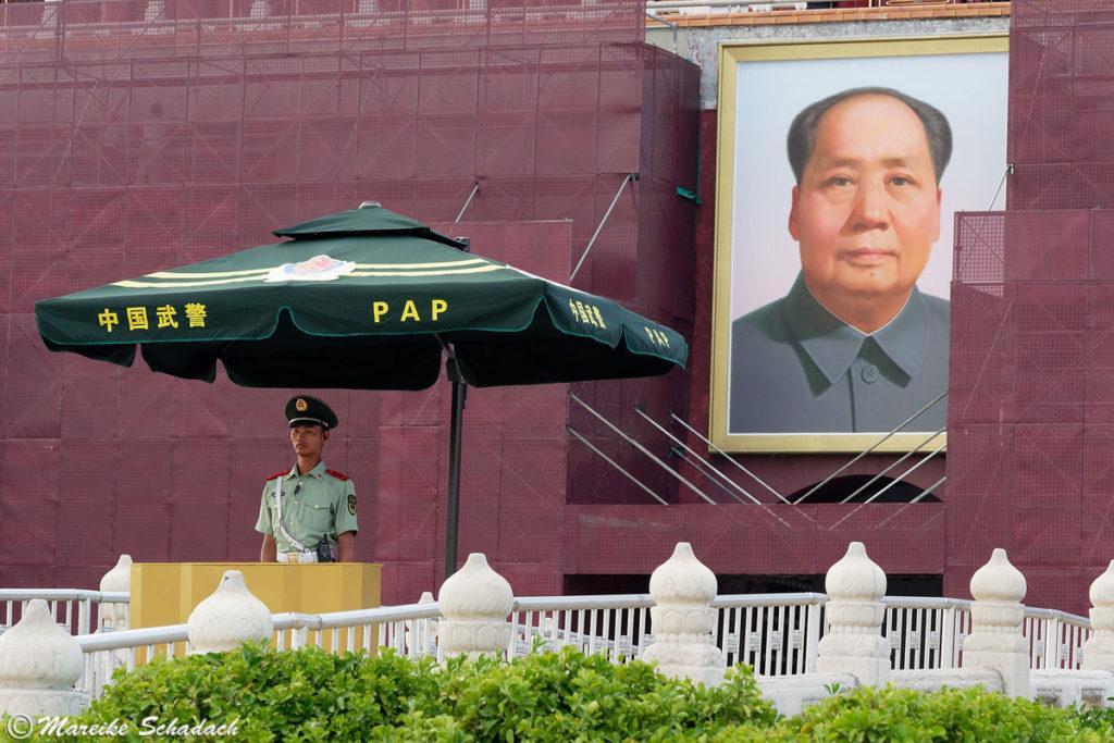 Das Mao-Porträt am Tiananmen-Platz