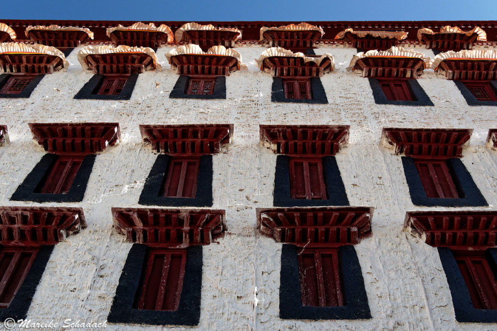 Fensterfront des Potala Palastes