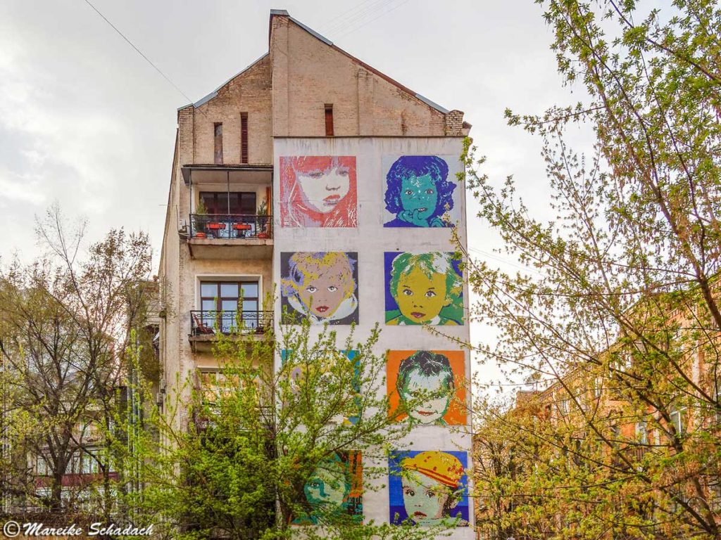 Street Art in Kiew - Children-von-Konstantin-Strikutsky