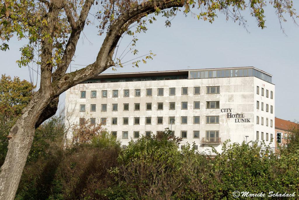 City Hotel Lunik Eisenhüttenstadt, ein Beispiel für sozialistische Architektur