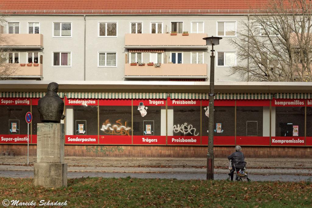ehemalige Kaufhalle als Teil der sozialistischen Planstadt Eisenhüttenstadt