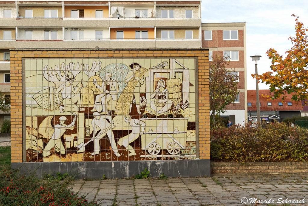 Wandbild in Eisenhüttenstadt