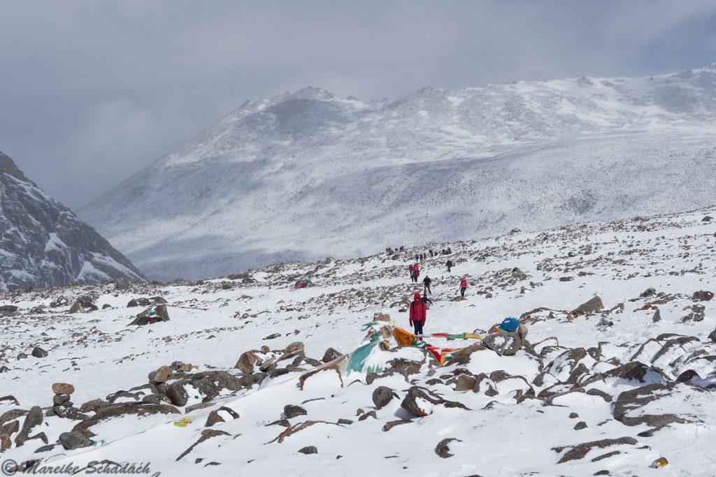 Drölma-La Pass beim Trekking um den Kailash