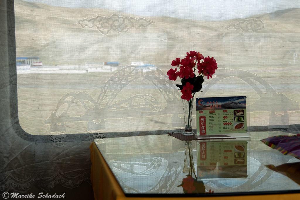Speisewagen der Lhasabahn