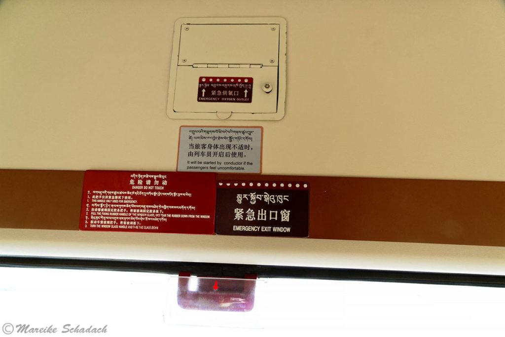 Sauerstoffversorgung in der Lhasabahn, Lhasabahn Tipps