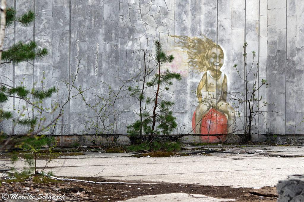 Wandmalerei in Prypjat