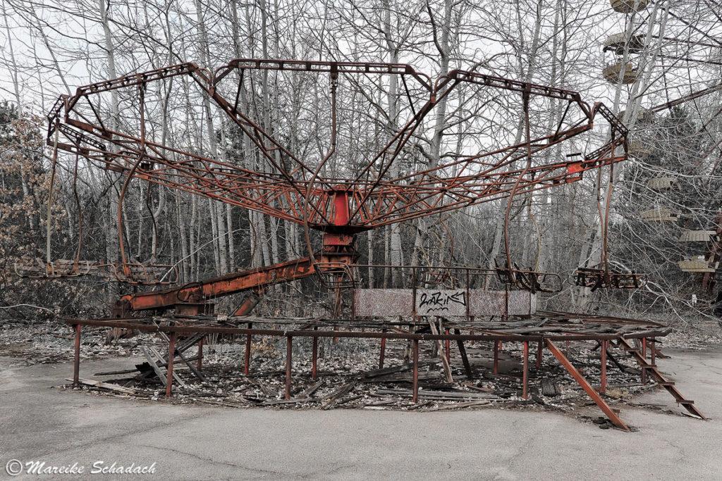 Karussell im Vergnügungspark Prypjat