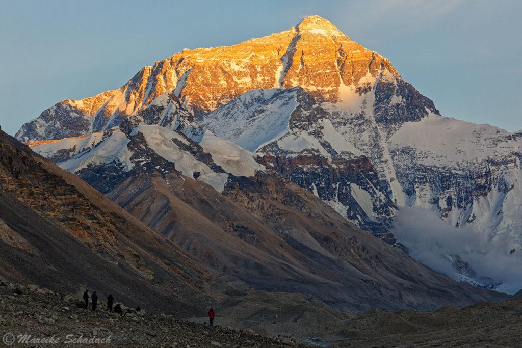 Abendstimmung am Mt. Everest war eines der Highlights in China