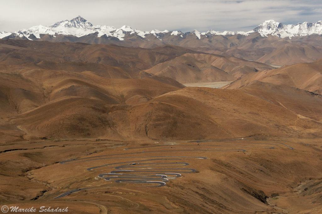 Straße in Richtung Mt. Everest