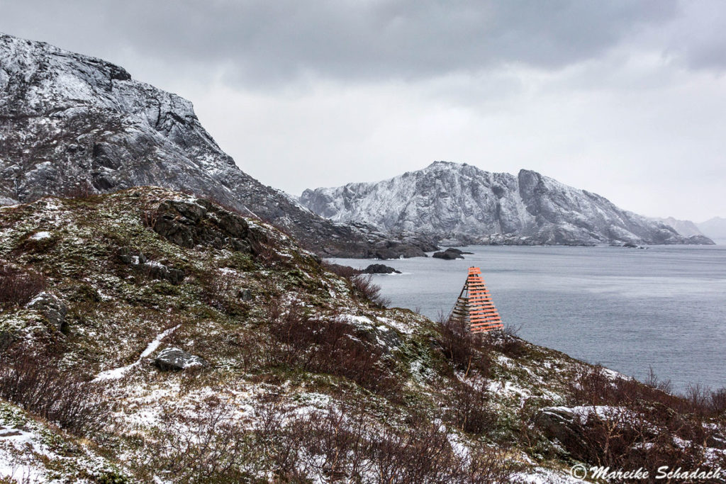 Wanderweg zwischen Nesland und Nusfjord