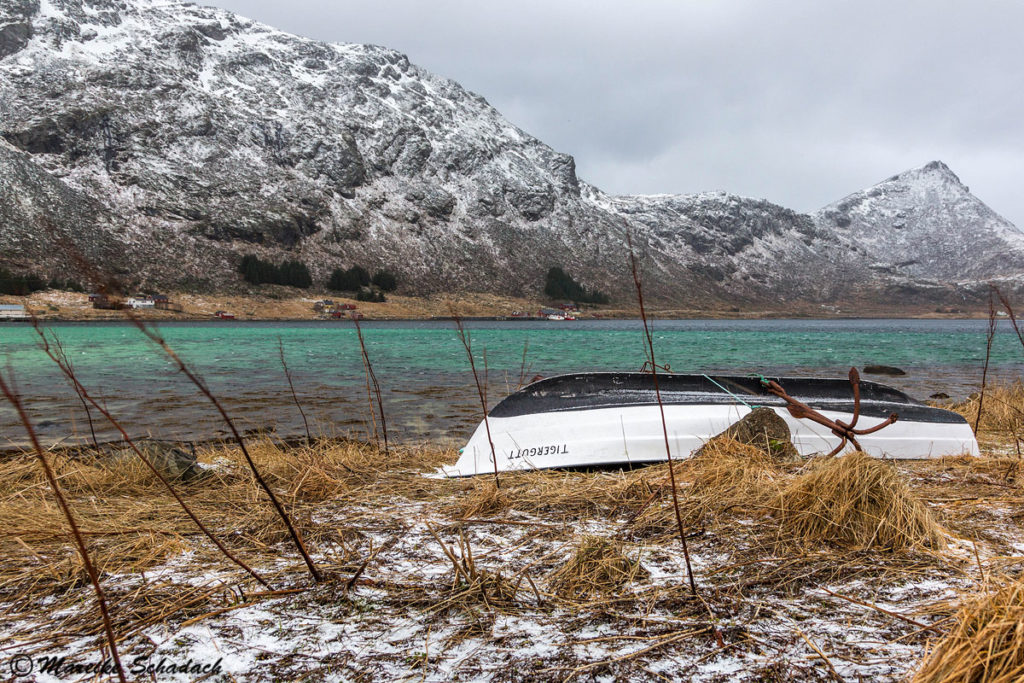 Ruderboot, Lofoten in Norwegen