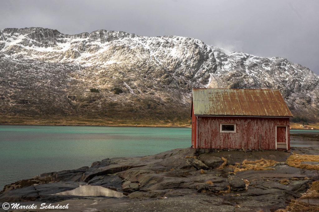 Fischerhütte, Lofoten in Norwegen