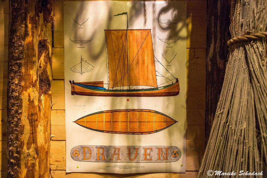 Zeichnung vom Nordlandboot