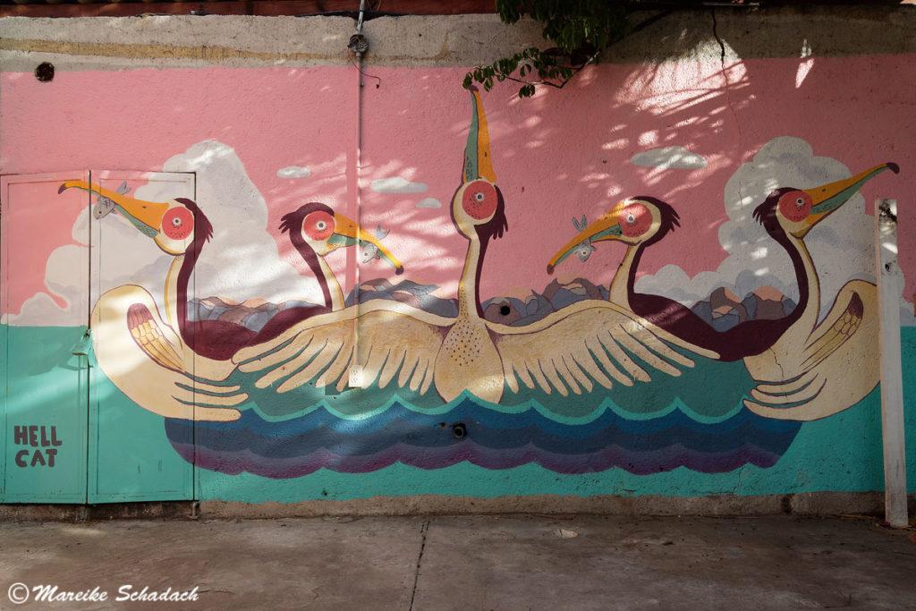 """Mural """"Fragmentos"""" von Hellcat; Mutualismo, La Paz"""