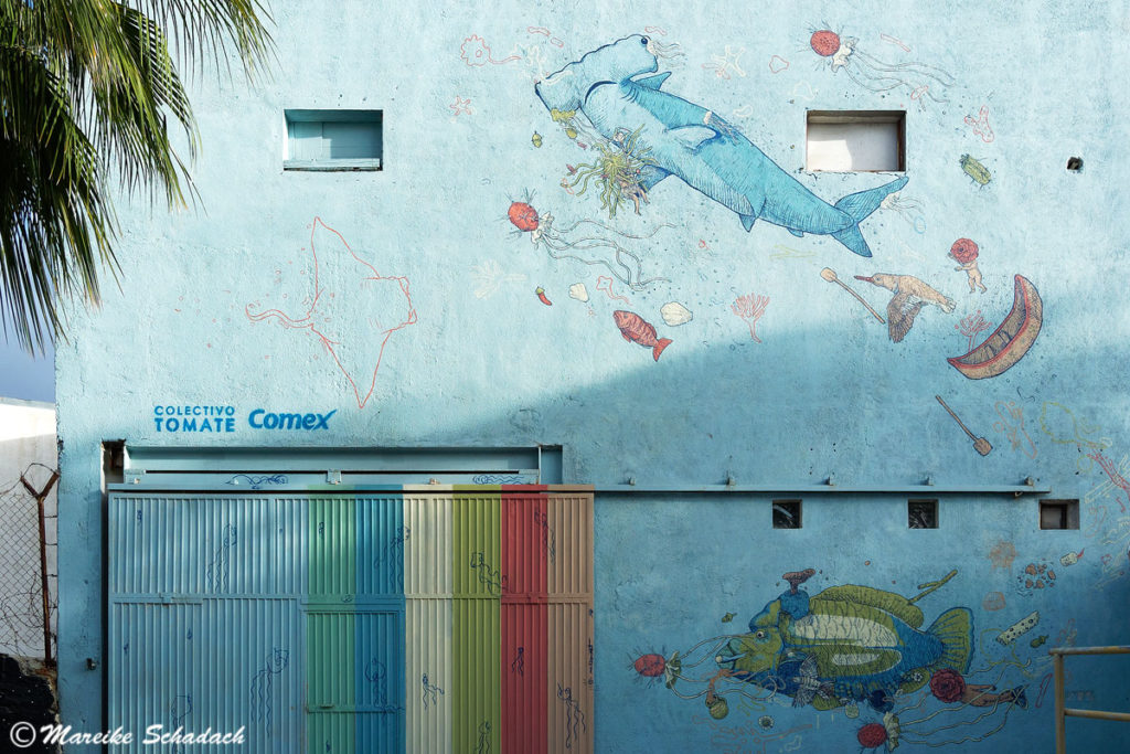 Mural in der Straße Mutualismo, La Paz