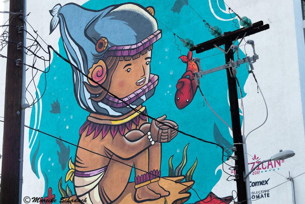 Street-Art in der Straße Lerdo de Tejada, La Paz