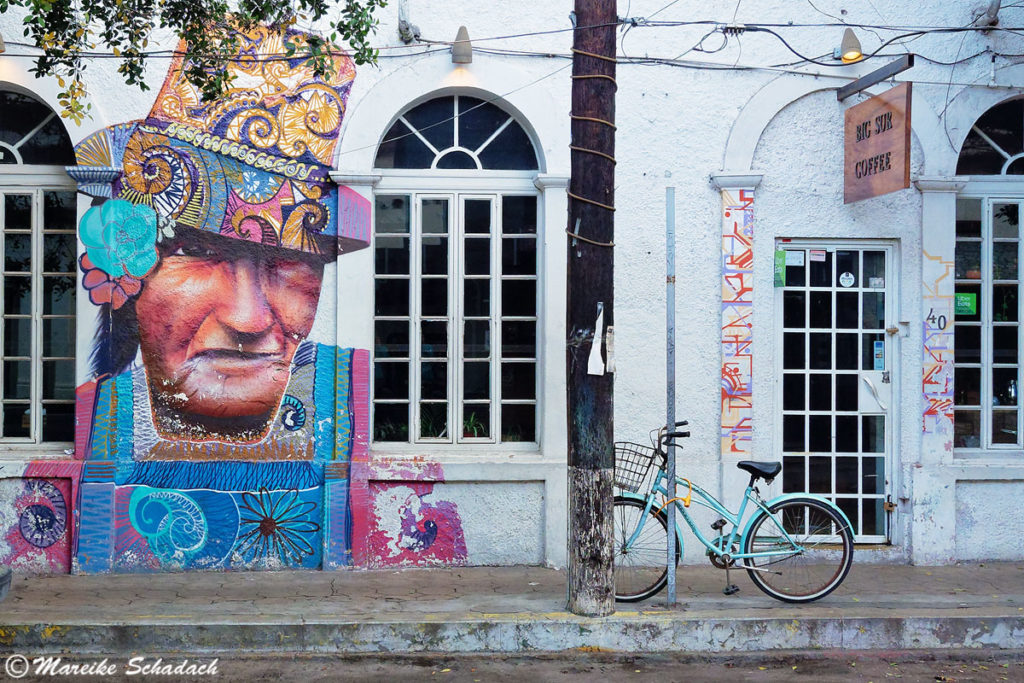 Street-Art am Big Sur Café in der Ignacio Zaragoza