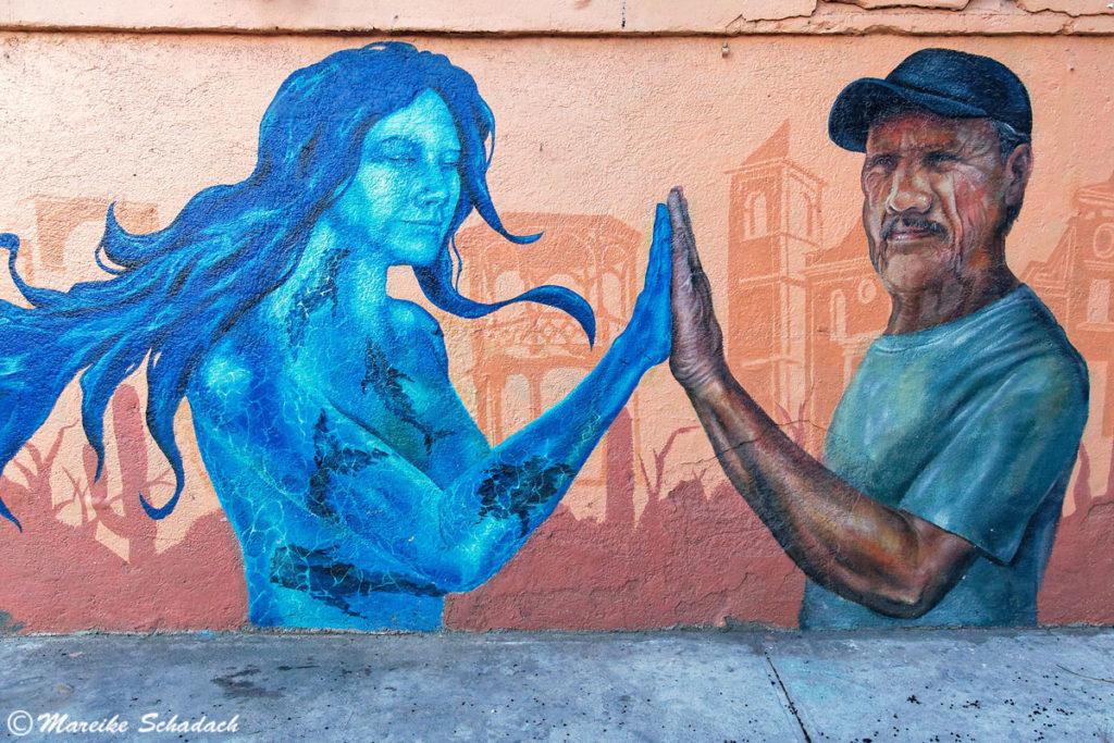Street-Art in der Straße Mutualismo, La Paz